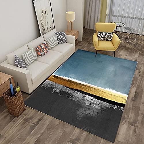 Tapis Enfant Garcon Tapis du Salon Blue Grey Minimaliste Home Design Girl Girl Chambre Décoration Accessoires Peut être lavé sans se fanerAnti Derapant Tapis 50x80cm