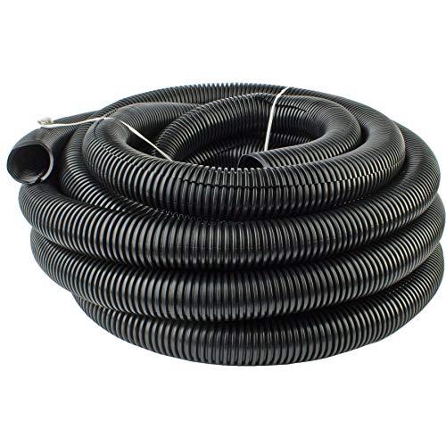 "50 Feet Ft. 3/4"" 19mm Black Split Loom Conduit Polyethylene Tubing"