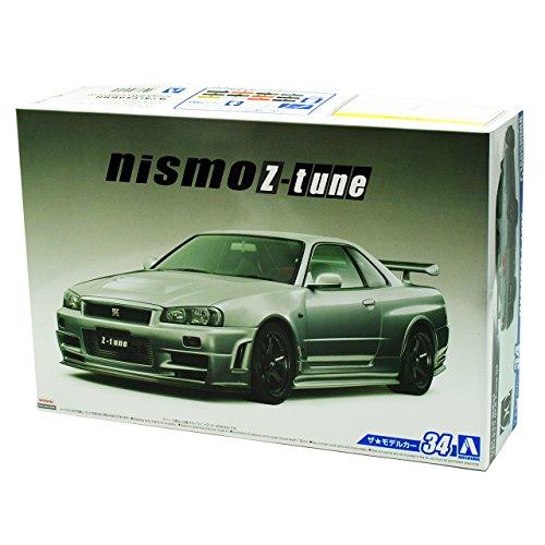 Aoshima Nissan Skyline R34 GT-R Nismo Z-Tune Grau 1998-2002 Kit Bausatz 1/24 Modell Auto Modell Auto