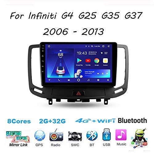 Für Infiniti G4 G25 G35 G37 2006 - 2013 Android 9 Autoradio Radio 9 Zoll Navigationssystem Multimedia Spieler Headunit Stereo Link Spiegeln Wifi 4G Spiegel Link BT Freisprechfunktion,8cores,4G+64G
