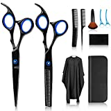 Haarschere, Scheren-Sets, Premium Scharfe Friseurscheren, Friseurscheren aus Edelstahl zum Ausdünnen und Strukturieren, Modellieren Professionelle Friseur-Sets