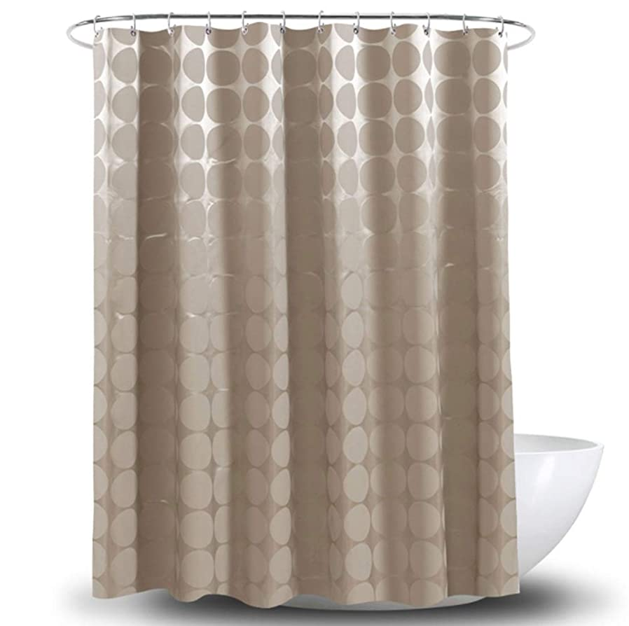 タップコンサルタントポイントFELICIAAA 茶色の防水性のうねりに耐性のポリエステル布のシャワーカーテンフック付き (色 : ブラウン, サイズ : 180*180CM)