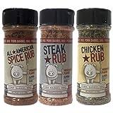 BBQ Seasoning Set - Pork Barrel BBQ Rubs and Spices Set - Christmas BBQ Gift Pack - Rub Sampler Pack...