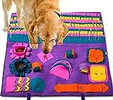PATIO PLUS Schnüffelteppich, Pet Matten für Hunde Soft Pet Nase Arbeit Geruch Snuffle Matte Train Fütterung Faltbarer Filzstoff Schnüffelteppich 90x90cm