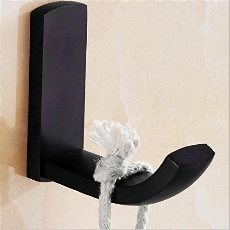RFJJAL Copper Bathroom Hook, Black Single Hook Hook