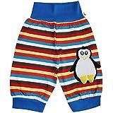 Pumphose Schlupfhose Babyhose elastischer Bund Handmade Pinguin, Größe:86/92