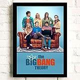 Carteles Impresiones Pintura De Pared The Big Bang Theory TV Movie Wall Art Canvas Painting Imágenes Decoración para El Hogar Mural Cartel Sin Marco A1031 40X60Cm