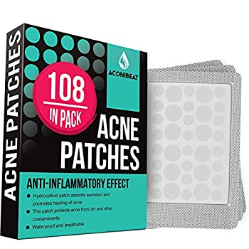 Acne Pimple Healing Patch - Absorbing Cover Invisible Blemish Spot Hydrocolloid Skin Treatment Facial Stickers Two Sizes Blends in with skin  108 Patches