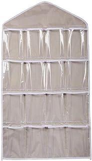 Gafas de Sol 1 Bolsa de Almacenamiento Organizador Colgante Llaves 8 Bolsillos de Montaje en Pared sobre la Puerta de Almacenamiento Bolsa de Tela de Rayas Azules para monederos