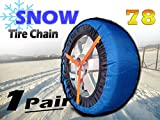 HZYICH 2pcs Anti-Skid Safety Ice Mud Tires Snow Chains Auto Snow Chains Fabric Tire Chains on Ice and Anowy Road (AT-SB78)