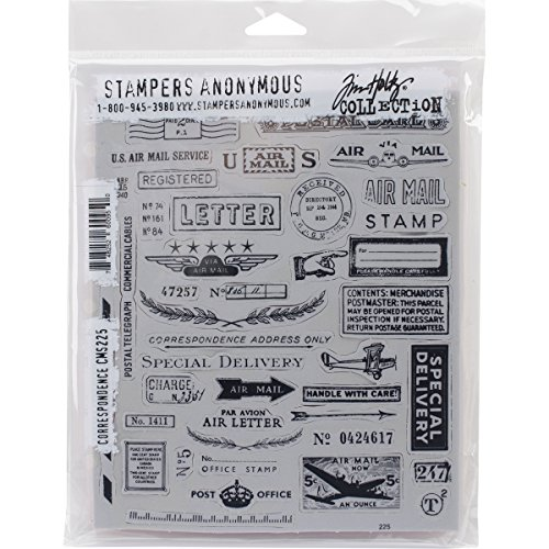 Tim Holtz Cling Stamps 7'X8.5', Correspondence