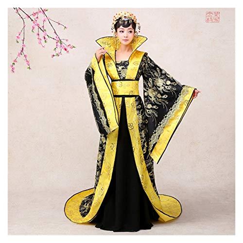 YUNGYE Disfraz antiguo de concubina de Hanfu para mujer, estilo chino, azul, disfraz dominante (color: negro, tamao: talla nica)