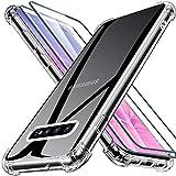 Samsung S10 Hülle[2 Panzerglas Schutzfolie], Joyguard Samsung Galaxy S10 Silikon Dünne klare weiche TPU Schutzhülle Anti-Kratzer Schock-Absorption Samsung S10 Hülle Silikon - Klar