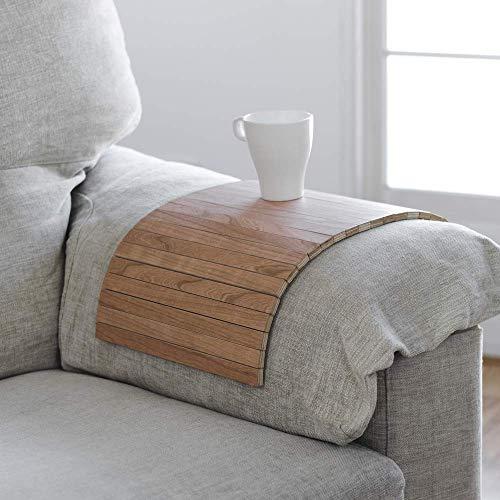 Das an die Armlehne des Sofas, Sessels oder Sessels anpassbare Tablett bietet nützlichen Platz zum Verlassen des Glases, der Tasse oder des Glases. Kirsch Beistelltisch.