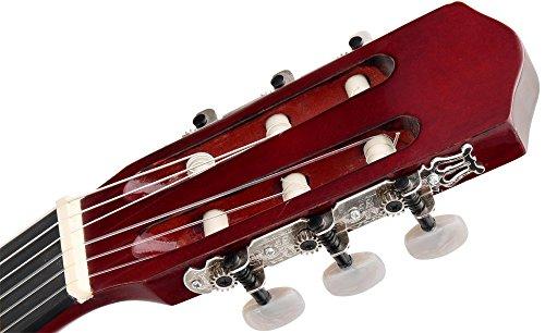 Classic Cantabile AS-851 1/2 Konzertgitarre Starter Set (Komplettes Anfänger Set mit Klassik Gitarre, Gigbag Tasche, Nylonsaiten, Lehrbuch/Schule inkl CD und DVD, 3x Plektren und Stimmpfeife) - 3