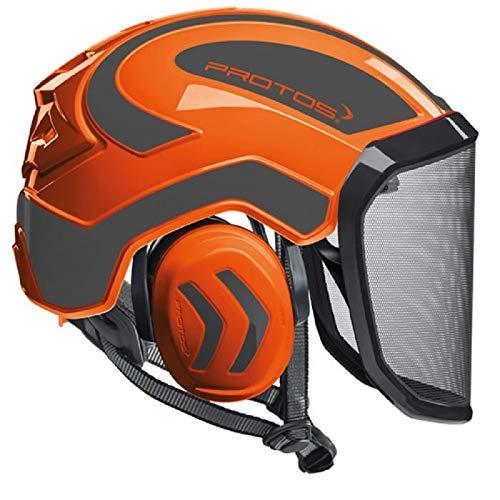 Pfanner Protos Integral Arborist Helmet (Orange & Grey)