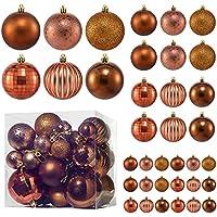 36-Pack MELOKI Shatterproof Christmas Ornament Balls with Hanging Loop