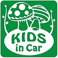 imoninn KIDS in car ステッカー 【マグネットタイプ】 No.41 キノコさん (緑色)