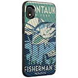 TurtleArmor | Compatible with Samsung Galaxy A10e Case | Galaxy A20e Case | Slim Dual Layer TPU Hard Armor Hybrid Engraved Grooves Shell Case - Lake Fishing
