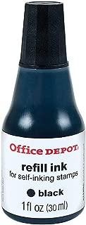 Office Depot Self-Inking Refill Ink, 1 Oz, Black, 034207