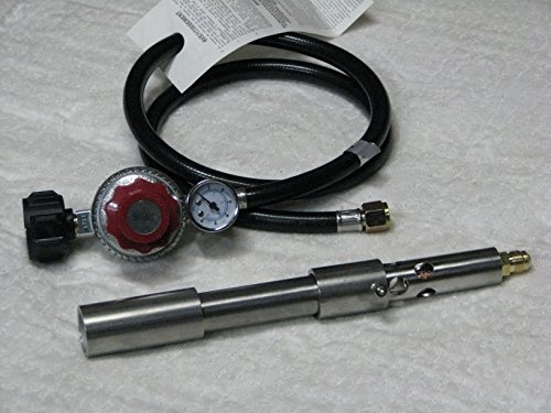 Goede G-2 Stainless Steel Forge/Foundry Burner and 0-30 PSI Regulator with Gauge.