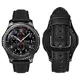 MroTech Cinturino 22mm Compatibile con Samsung Gear S3 Frontier/Classic/Galaxy Watch 46 mm Banda 22 mm de Ricambio per Huawei Watch GT 46mm/GT2 PRO/GT 2e Bracciale in Pelle Cinghie-Nappa Ne