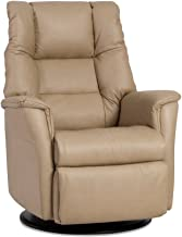 Verona IMG Motorized Swivel Glider Relaxer Recliner Large Size in Trend Sand Leather with Duel Sensor - in-Home Delivery