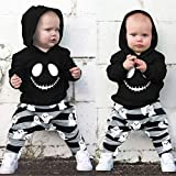 N/F Baby Boy Clothes Set Nightmare Hoodie +Ghost Pants Halloween Outfits Infant Girls Tracksuit Clothing For Babies