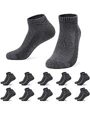 TUUHAW Sneakersokken voor dames en heren, 10 paar, halfsokken, kort, ademend katoen
