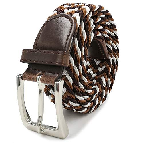 Glamexx24 Unisex elastische stoffen riem Gevlochten stretch riem Rekbare riem voor dames en heren
