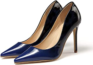 Gold Cloud Women GC4722 Leather Gradient Color Pointed Toe Stiletto Heeled Comfort Pump Shoes