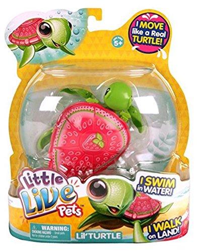 Little Live Pets- S2 Schildkröte Einzelpackung- Erdbeerschildkröte Rosa