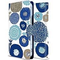 AQUOS sense2 かんたん ケース 手帳型 アクオス センス2 カバー スマホケース おしゃれ かわいい 耐衝撃 花柄 人気 純正 全機種対応 秘密の花 青い誘惑 ファッション フラワー かわいい 15115172