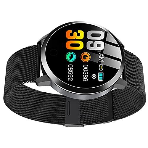 Hainice Relojes Inteligentes Q8 Impermeable de Pulsera Inteligente con la Correa del Metal de Prueba del Ritmo cardíaco del Contador de Paso del Ciclo Menstrual de Las Mujeres Negro