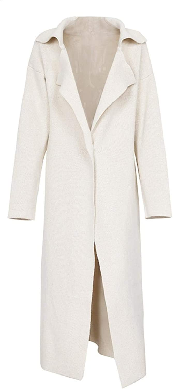 WsQScg Women Casual Long Knitting Cardigan Elegant Button Pockets Sweater