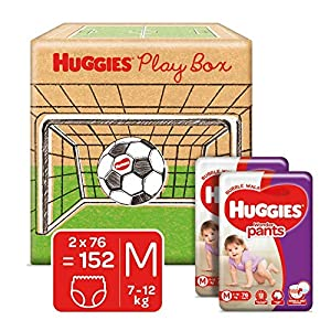 Huggies Wonder Pants Play Box, Monthly Box Pack Diapers, Extra Large (XL) Size, 112 Count 5 51iKDaL3mSL. SS300