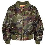 A2Z 4 Kids Enfants Filles Garçons Camouflage Imprimer - MA1 Jacket Camo. Green 13