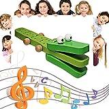 Moliies Orffworld Cocodrilo Forma Castañuela de Madera Bebé Instrumento Musical Bebé de Dibujos Animados Instrumento Musical Juguete Sonajero Juguete/Verde