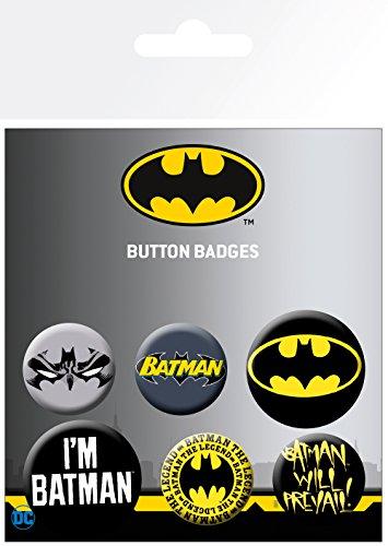 Batman Lote de chapas Comics para Unisex multicolor Plastico