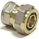 Falk-Schrauben 16 x 2-3/4 pulgadas | transición de rosca con rosca interior | autorización DVGW | Pipetec | accesorios | (1 unidad) | tubo compuesto de aluminio | racor atornillado
