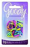Goody Mini Latex Hair Elastics, Assorted Neon Colors, 75-count