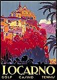 Wallbuddy Locarno Poster Lago Maggiore Poster Locarno