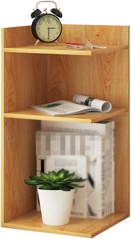 Bookcase,Wooden Bookcase Small Bookshelf Desktop Bookshelf Shelf Storage Rack for Homes, Offices, Dormitories, etc,Beige,30  30  60cm