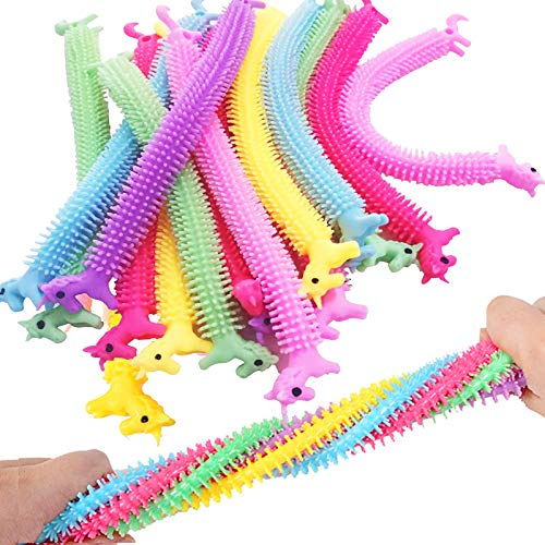 15 Pack Sensory StressToys Fidget Therapy Unicorn Stretchy String Toys for Kids and Adults, Anti...