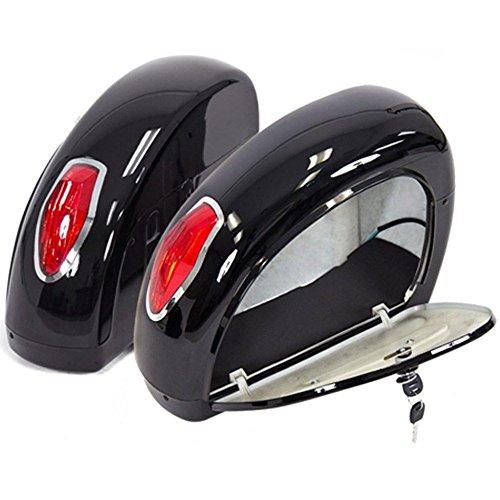 EGO BIKE LN Motorcycle Hard Saddle Bag Trunk with Light for Motorcycle Honda Yamaha Harley Suzuki
