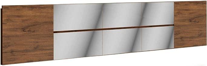 Cabeceira de Barra Espelhada para Cama de Casal em MDF 300cm Dalla Costa Nobre