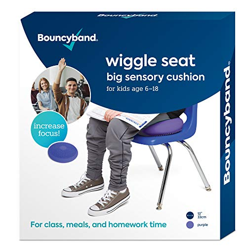 "Wiggle Seat Big Sensory Cushion 13"" -Raises Kids' Concentration Improving Performance (Large, Purple)"