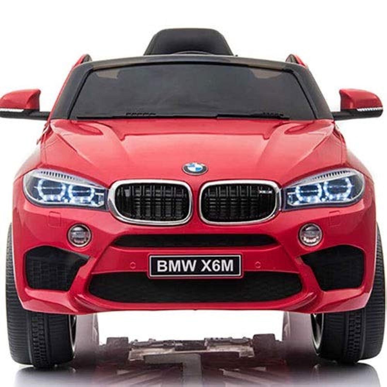 Ycco キッズキッズ電動乗用車ツインモーター(LEDライト付き)音楽ペアレンタルリモートコントロールホワイトMP3音楽&ホーンフロントLEDライト(前後進左右右ブレーキスピードチェンジ可能) ( Color : Red )