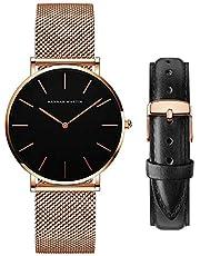 レディース 腕時計 Hannah Martin おしゃれ クラシック シンプル 女性 時計 ビジネス 日本製クォーツ watch for women 取替え ベルト