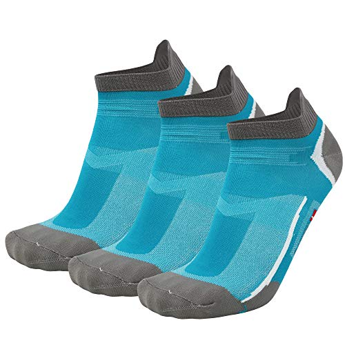DANISH ENDURANCE Calcetines de Deporte Low Cut Pack de 3 (Azul...